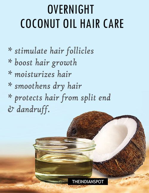 overnight hot coconut oil hair mask
