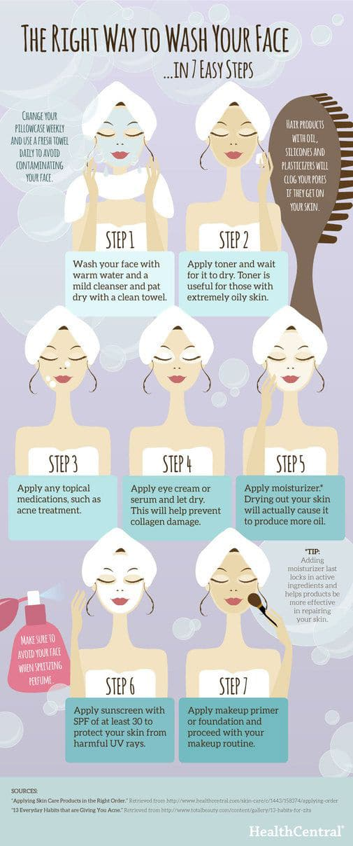right way to wash your face