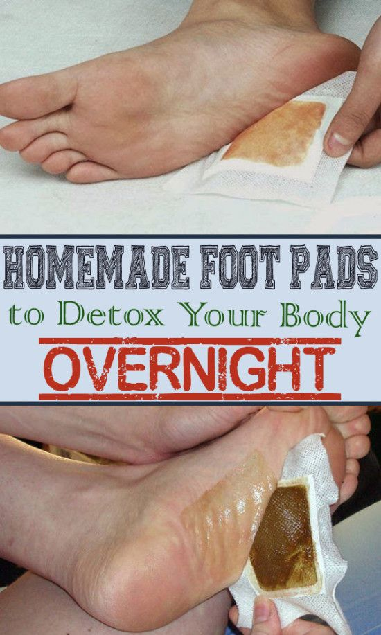 DIY Detox foot pads